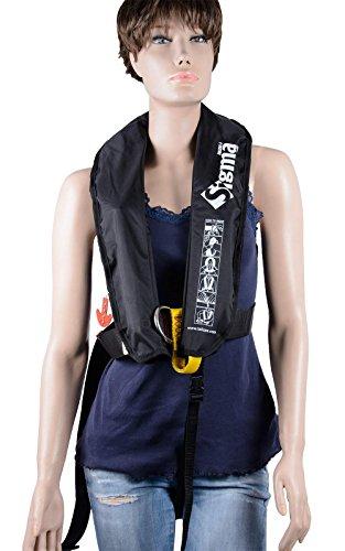 wellenshop Rettungsweste Lalizas Sigma 170N Erwachsene manueller & automatischer Auslösemechanismus schwarz ab 40kg