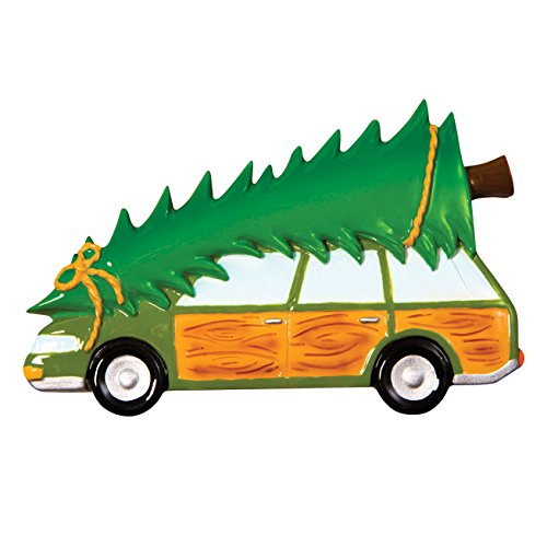 Grantwood Technology Personalized Christmas Ornaments Family TRUCKSTER/Station Wagon/Personalized by Santa/Christmas Tree Ornament/CAR Ornament