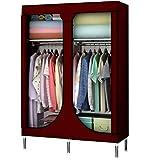 LJP Armario simple para guardarropa, armario, estantes para colgar en el armario, portátil, armario temporal (color: D)