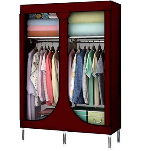 LJP armadio semplice armadio armadio armadio armadio armadio armadio scaffali scaffali appendiabiti portatile armadio temporaneo (colore: D)