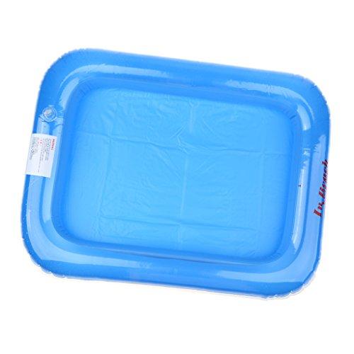schwimmende Aufblasbares Tablett Sand Spielzeug Für Kinder Indoor Spielen - 60 x 40 cm - Blau