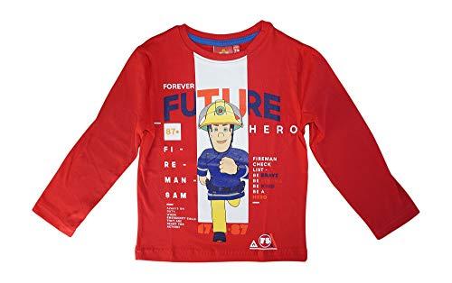 Maglione a maniche lunghe per bambini Sam Pompiere Colore: rosso 116 cm