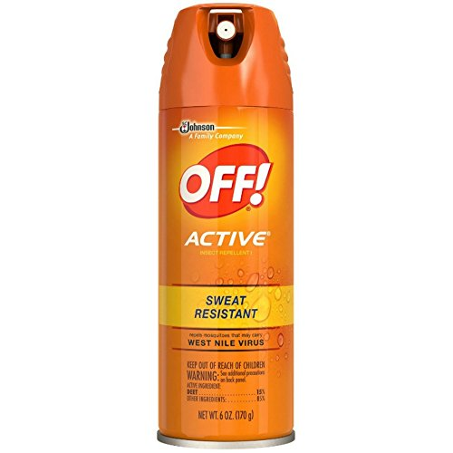OFF! Active Insect Repellent, Sweat Resistant 6 oz ( Pack of 4)