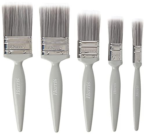 Harris 101011006 Essentials Walls & Ceilings Paint Brush 5 Pack, 1 x 0.5, 1 x 1, 1 x 1.5, 2 x 2