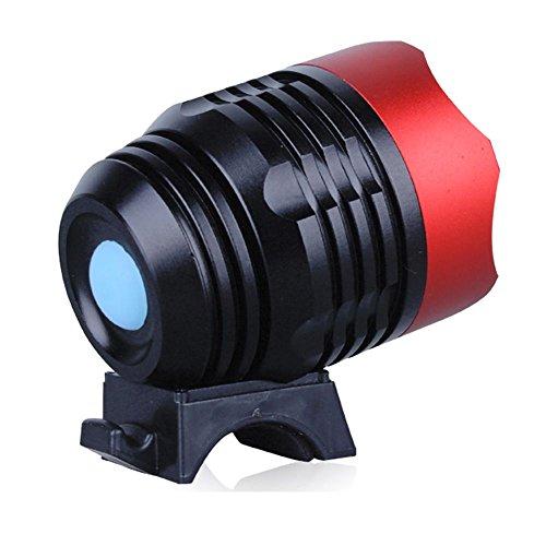 VANKER New Test d'eau 1200 lumen T6 DC LED pour vélo de lumière du phare 3 Mode Rouge