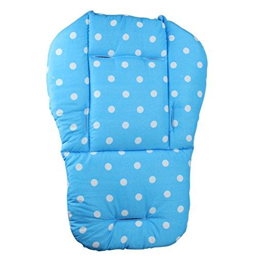 Copriseduta per passeggini YeahiBaby Cuscino spessore universale per Seggiolino Carrozzina Passeggino Ovetto Seggiolone con pois (Azzurro)