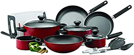Prestige Classique Pro Cookware Set Of 14 Pieces - PR21233, Red