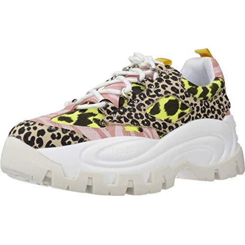 Liu Jo Sneakers Femmes Milano Wave 01 Black Yellow Synthétiq