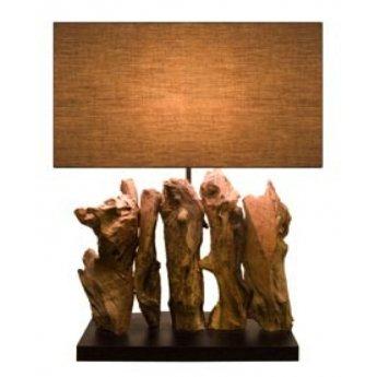 Lampe bois flotté ARAGON