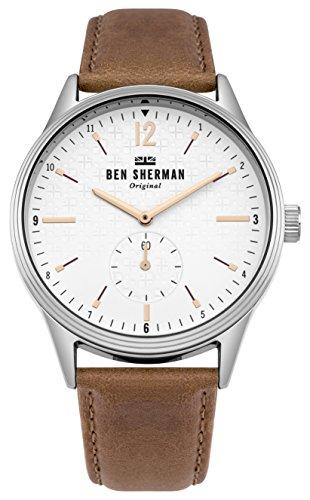 Ben Sherman Herren Datum klassisch Quarz Uhr mit Leder Armband WB015T
