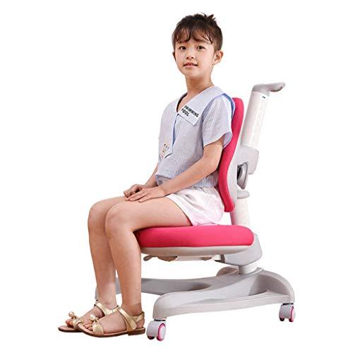 Studenten leren stoel kinderen computer stoel lift zittende houding correctie stoel kinderen schrijfstoel huis verstelbare comfort stoel 3-18 jaar oud (kleur: PINK, Maat : 60 * 44.5 * 83.5CM)