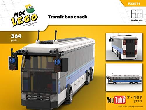 Transit bus coach (Instruction Only): MOC LEGO (English Edition)