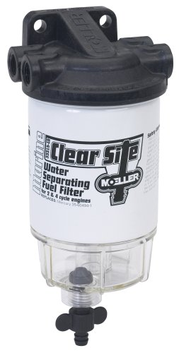 "Moeller Clear Site Water Separating Fuel Filter System for outboard Motors (3/8"" NPT, Composite)"