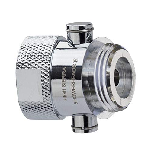 Shower Shutoff Valve - Solid Metal – Virtually No Pressure Loss! Push-Button Trickle Valve Easily Controls the Flow of Water or Shuts It Off to Just a Trickle - Chrome
