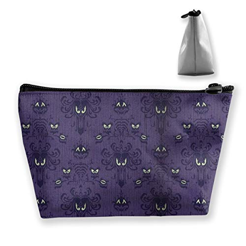Women Haunted Mansion Makeup Bag Cosmetic Bags Hand-held Toiletry Travel Organizer for Girl Make