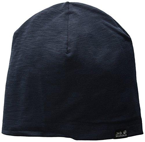 Jack Wolfskin Unisex Travel Beanie Bonnet Strickmütze, (Night Blue), (Herstellergröße: One Size 55-59CM)
