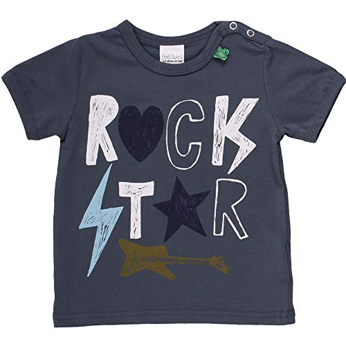 Fred'S World By Green Cotton Star Rock S/s T T-Shirt, Bleu (Midnight 019411006), 74 Bébé garçon