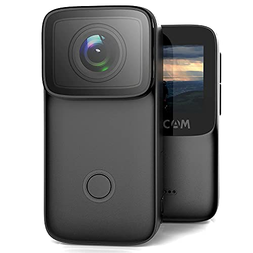 SJCAM C200 4K24FPS Action Camera Ultra HD Underwater Camera 154 Degree Wide Angle 131FT Waterproof Camera Black