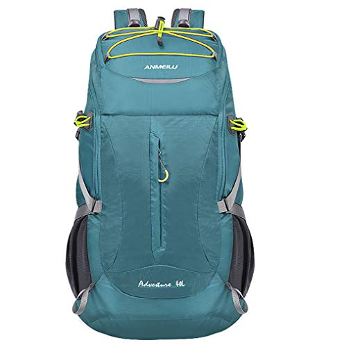 Outdoor bag, outdoor pocket, mountaineering backpack, cycling backpack, 18 L, waterproof bicycle, breathable running bag for fitness climbing, camping, running, skiing, trekking carabiner., Blue, One Size