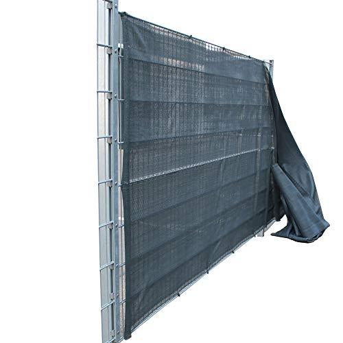 Top-Multi Tennissichtschutz Tennisnetz Bauzaun Gartenzaun ANTHRAZIT 1,6m x 10m