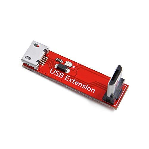 LDTR DIY Electronic Kit 30 * 8 * 13mm 90 Gradi L digitare Angolo retto Micro USB Trasferire Il modulo di Estensione Femminile a Maschio for Rc. Drone