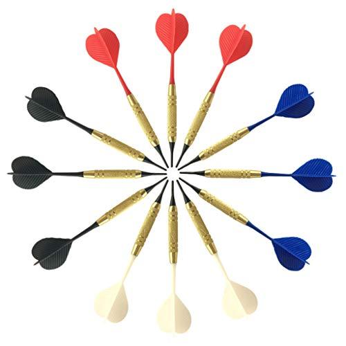 RG-FA Dartpfeile mit weicher Nylonspitze, PC-Schaft für elektronische Dartscheiben, Heimbar, zufällige Farbe, 12 Stück