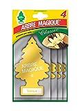 Arbre Magique 102876, Deodorante per Auto, Profumazione Vaniglia, Formato Multipack da 4 P...