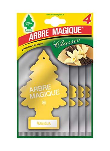 Arbre Magique 102876, Deodorante per Auto, Profumazione Vaniglia, Formato Multipack da 4 Pezzi, Set di 4