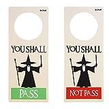 "Dr. Troll POMING Cartel NO Molestar Colgador para POMO Puertas HABITACIÃ""N Tipo DO Not Disturb Gandalf You Shall Pass You Shall Not Pass"
