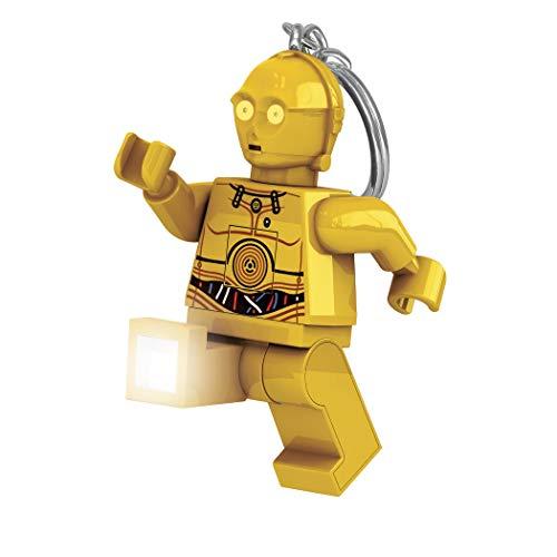 Lego LGLKE18 - Star Wars sleutelhanger met lamp C3Po, meerkleurig