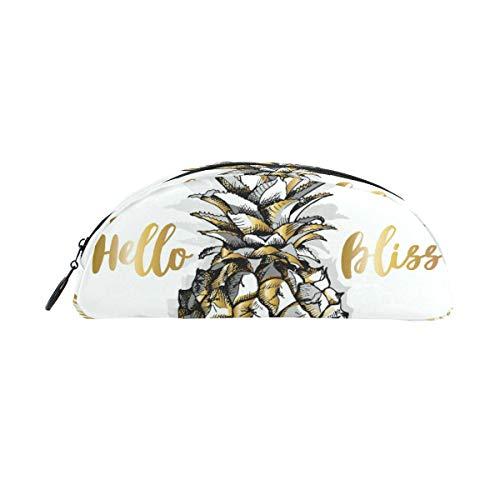 BONIPE Hello Summer Pineapple Bliss Federmäppchen, Stifttasche, Geldbörse, Kosmetik, Make-up, für Reisen und Büro
