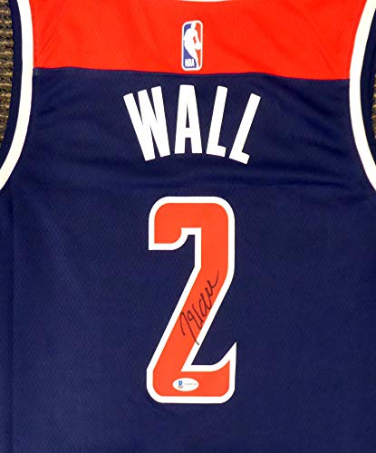 Washington Wizards John Wall Autographed Blue Jordan Brand Swingman Jersey Size XL Beckett BAS Stock #182248
