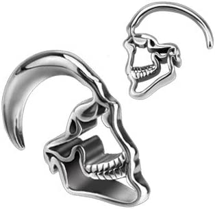 Dynamique Pair Max 45% OFF of Skull Hanging Stainless Tapers Ö Max 62% OFF Steel 316L