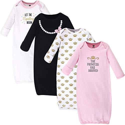 Hudson Baby Unisex Cotton Gowns, Princess, 0-6 Months