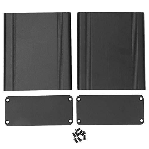 DONDOW 38 x 88 x 100 mm Caja de Aluminio de Bricolaje Aparato electrónico Bricolaje Proyecto de Split Tipo de Caja, Caja de Aluminio de la Placa de Circuito, Proyecto Caja de Aluminio Compatible with