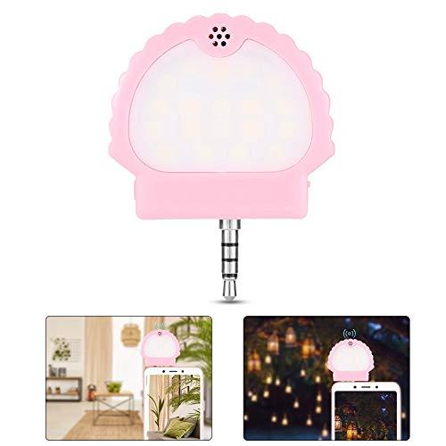 Selfie Ring Clip Light, Portable Clip-on Selfie Lamp Flash Lens Schoonheid Invullicht Lamp voor mobiele telefoon Laptop Fotografie Smartphone Vulling Ronde vorm Make-uplicht(roze)