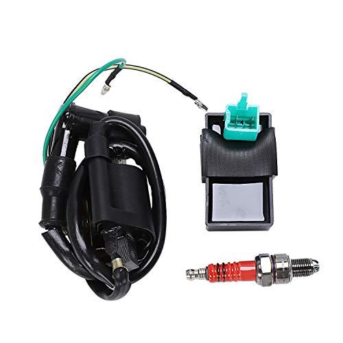 RETYLY 12V ZüNdspule + 5 Pin CDI + Stecker Chinesisches ATV Quad 50 70 90 110 125 Cc