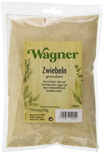 Wagner Gewürze Zwiebeln granuliert 1er Pack Zwiebelpulver für Fleisch, Fisch, Gemüse & vieles mehr, Zwiebel-Granulat getrocknet, & granuliert, Menge: 1 x 250 g