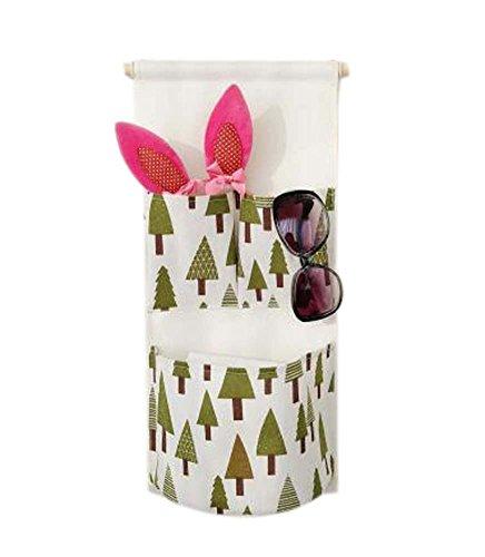 Sac de rangement mural de style simple Deux sac de rangement pour petit sac, Arbre