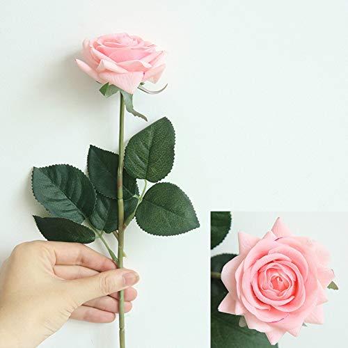 kuupag 10 Pcs/Lot Décor Rose Fleurs Artificielles Fleurs en Soie Floral Latex Real Touch Rose Bouquet De Mariage Accueil Party Design Fleurs