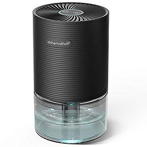 Deumidificatore Ambiente Casa, 750 ml,7 Colori LED, Assorbiumidità Elettrico, Auto-off, Risparmio Energetico, Contro la Muffa e L'umidità per Ambienti, Casa, Armadio o Garage
