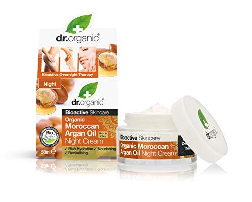 dr.organic argan night cream crema notte viso per tutti i tipi di pelle 50 ml