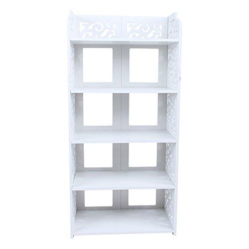 AYNEFY Skoställ vit stor, skobyrå vitt skoskåp multifunktionell femskikts förvaringshylla med stor kapacitet