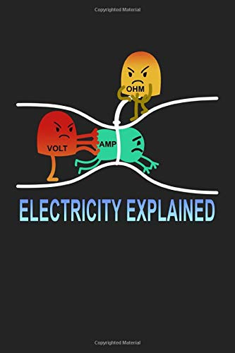Electricity explained: Notebook | Dotgrid Journal | Writing Diary Book | Planer |electricity, cute meme, cute cartoon, volt, amp, ohm| Doted - Gift Idea for meme lover, 120 Pages Size 6x9