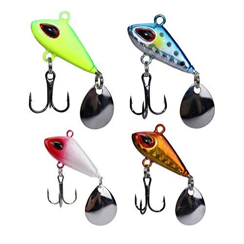 sylbx Kits Leurres pêche Appâts 4 Pêche Spinner VIB...
