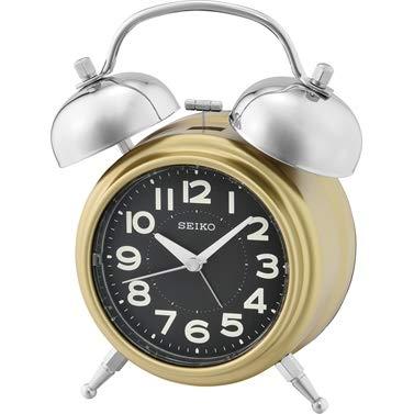Seiko Bedkant Wekker met Bell Alarm, Rustige Sweep Tweedehands QHK051F