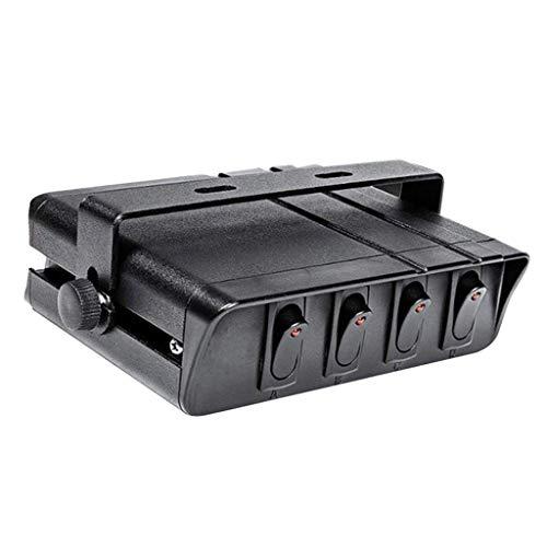 Shiwaki Caja De Panel De Interruptor Basculante De Encendido/Apagado Caja De Interruptor Basculante De 4/6 Cuadrillas 12V - 4 bande rosse