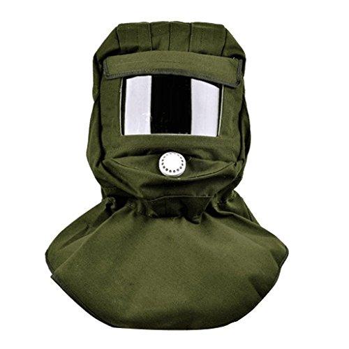 Backbayia Sandstrahlhaube Sandstrahler Schutzmaske Helm Schutz Anti-Staub Sandstrahlen Maske