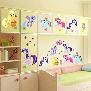 RoomMates My Little Pony Wall Decals,Removable My Little Pony Wall Sticker,Kids Room Home Decor.