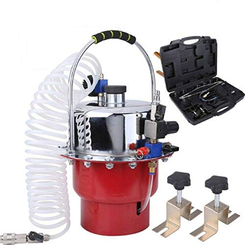 Purgador de Frenos 5L Profesional y Embrague Hiidráulico de Tubo de Válvula, Dispositivo Frenos Coche Herramientas Sangrador de Frenos Sangrador de Líquido Kit de Adaptadores